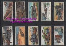 Collectible Cigarette cards  set Engineering Wonders 1929